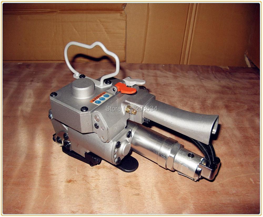 Geen verzendkosten! pneumatisch omsnoeringsgereedschap, XQD-25 plastic PET PP bandverpakkingsmachine met spanner en sealer, 19-25 mm