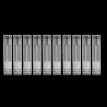 10Pcs Clear Empty LIP BALM Tubes Containers Transparent Lipstick + Caps