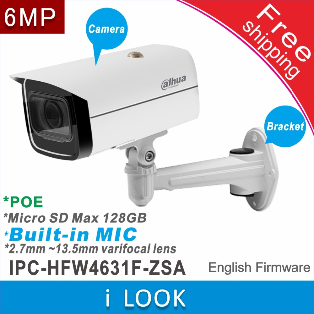 Free shipping Dahua IPC HFW4631F ZSA replace IPC HFW2531T ZS ip camera POE cctv camera Built