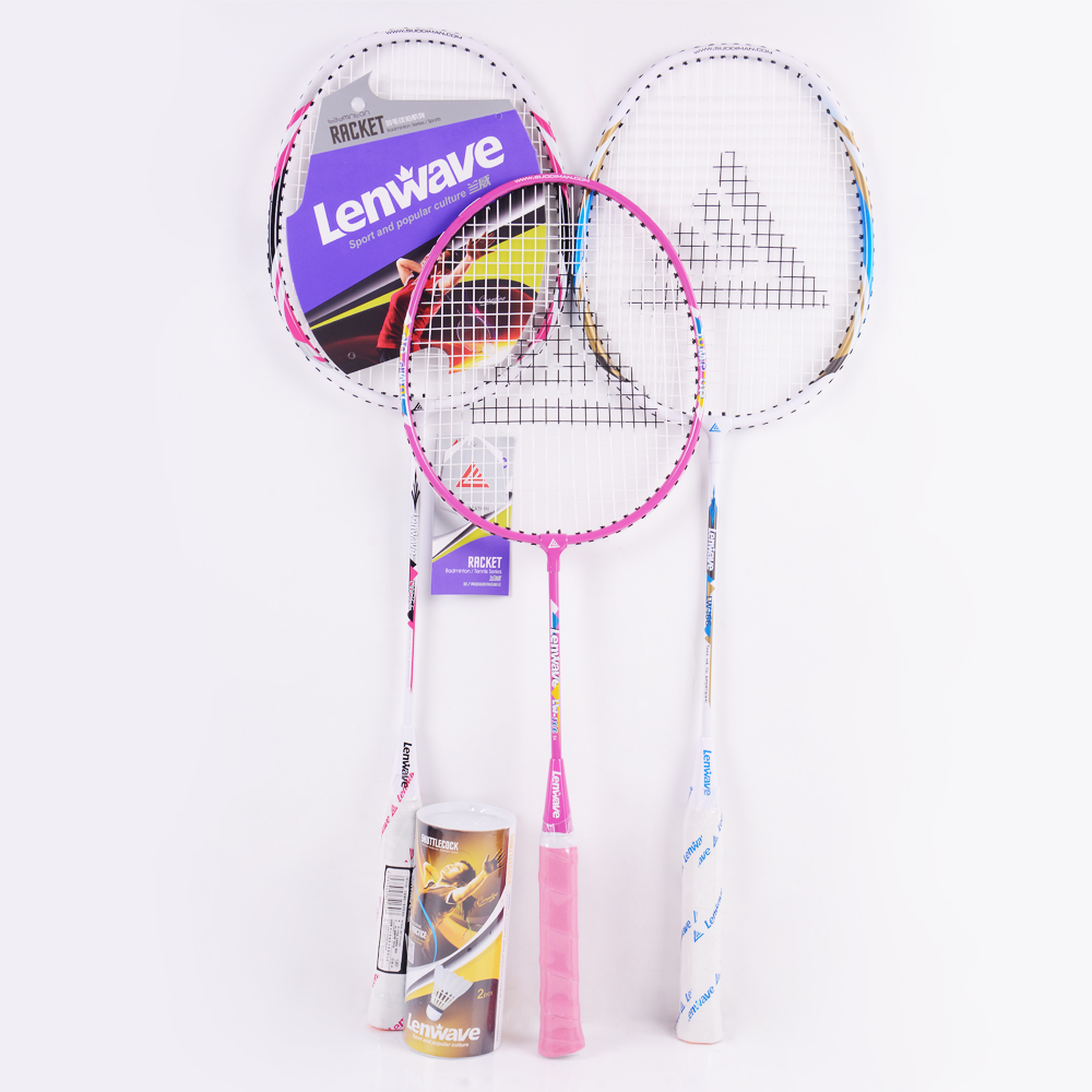 Family Packages 3PCS Badminton Rackets Best Price Lenwave Brand Sports Training Racket Free Shipping