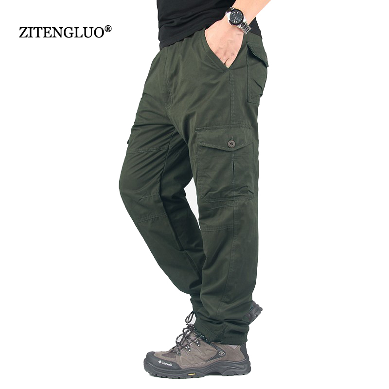 YOLAO  Winter Double Layer Men's Cargo Pants Warm  Baggy Pants Trousers For Men Male Military Camouflage Tactical X01