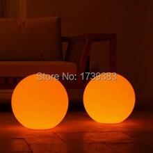 30cm 1pcs/lot waterproof  Wireless charging emitting led ball lamp Glowing plastic luminous Unbreakable Globe night light