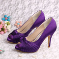 (20 Colors)Wedopus Custom Handmade Brand Name Purple Wedding Shoes High Heels Party Pumps