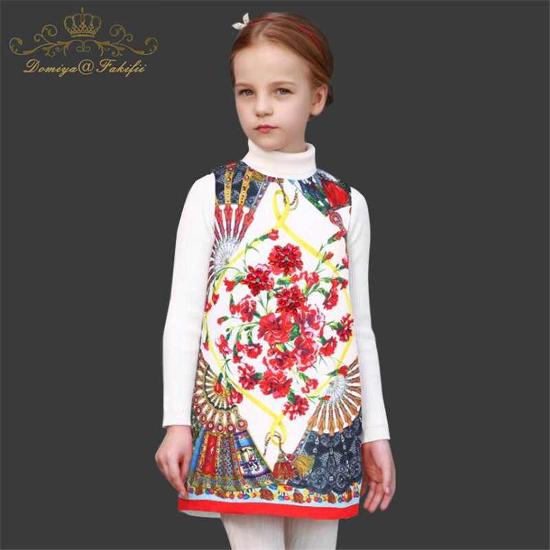 цена на Free shipping 2018 Brand Baby Girls Dresses Cotton A-line Clothes Girl Princess Dress Vestidos Children Costumes for Girls