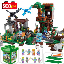 My World Molcard Village 900pcs in Plastic bucket building blocks assemble children boy girl toy action Christmas birthday gift