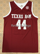 5d46b0070  44 Robert Williams Texas Tech College Throwback Stitche Embroidery  Basketball Jersey Custom any Number and