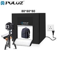 PULUZ 80 см лайтбокс бокс для фотостудии софтбокс 80 Вт белый свет фото освещение студия тент для съемки коробка комплект и 3 фон для фотографии