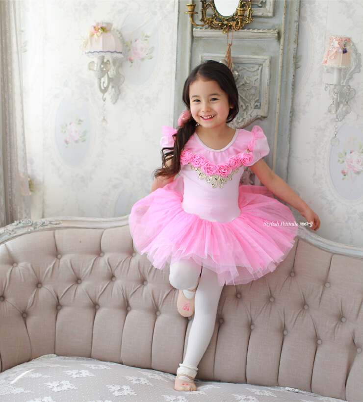 wholesale-Black and white Short sleeve girl's ballet skirt,Children ballet skirt,tutu dance dress,kid dancing dress,baby skirt