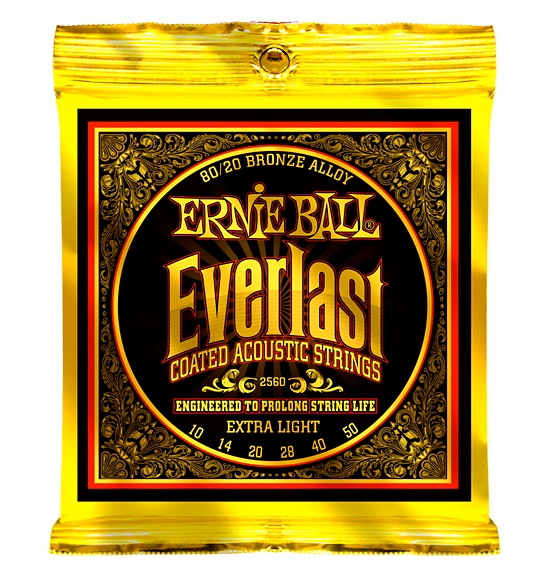 Ernie Ball 2560 Ever-last 80/20 Bronze Extra Light Acoustic Guitar Strings 010-050