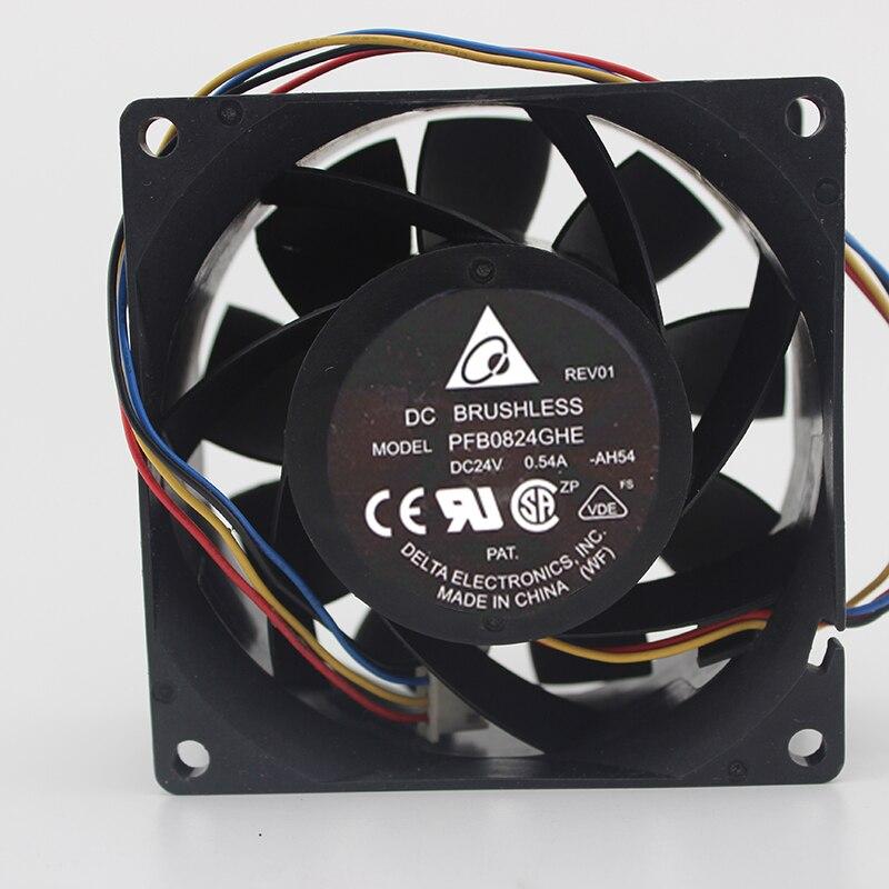 8 см инвертор Вентилятор промышленный компьютер 8038 24 В 0.54A PFB0824GHE махрово
