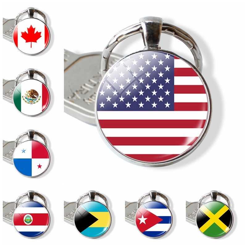 5a3c38cdd1 América del Norte de la bandera de los países clave Cadena de Estados  Unidos Canadá Costa