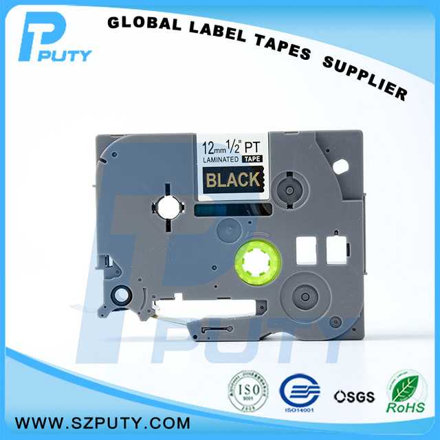 Laminated Labels Tape Compatible P Touch TZe 334 TZe334 12MM Gold on ...
