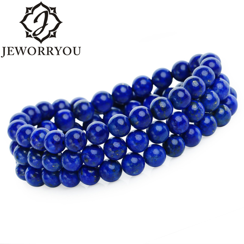5-8mm Natural Lapis Lazuli Bracelets Women Jewelry Wrap Bracelet Stone Bracelet Bangles Woman Valentine's Day 6 8mm colorful morganite bracelets round natural stone bracelets morganite beads bracelet for women gift women jewelry