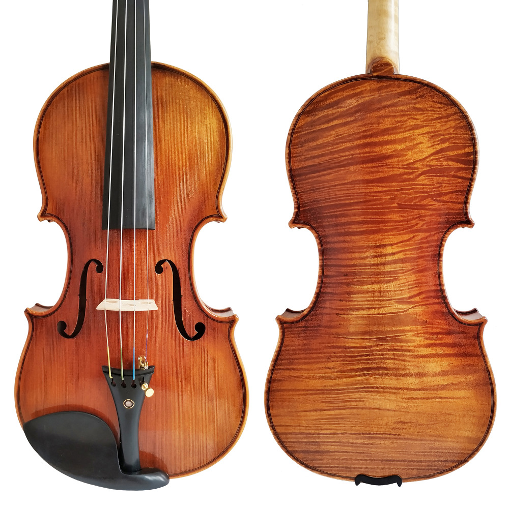 Free Shipping Copy Stradivarius 1716 100% Handmade Oil Varnish Violin + Carbon Fiber Bow Foam Case FPVN04 #8 free shipping copy stradivarius 1716 100% handmade oil varnish violin carbon fiber bow foam case fpvn04 8