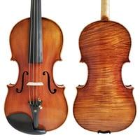Free Shipping Copy Stradivarius 1716 100% Handmade Oil Varnish Violin + Carbon Fiber Bow Foam Case FPVN04 #8