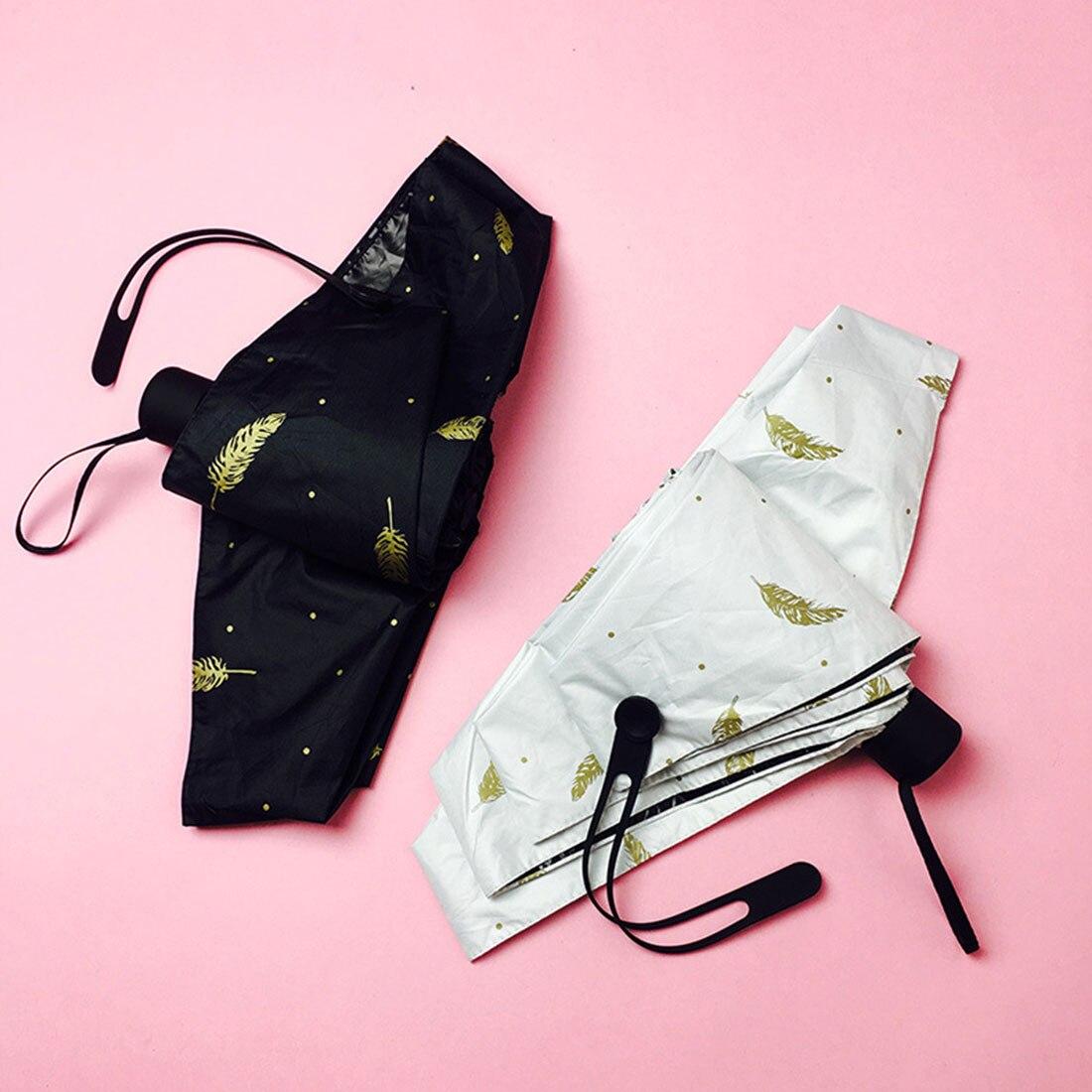 Pequeno cinco dobrável lápis guarda-chuva ultra-fino luz mini guarda-chuva chuva feminino guarda-chuva para homens sol chuva engrenagem guarda-sol
