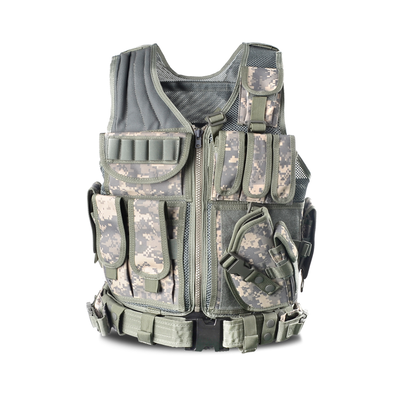 Police Military Tactical Vest Wargame Body Armor Sports Wear Hunting Vest CS Outdoor Products Equipment Vest With 5 Colors police armor pl 14378jsr 12p