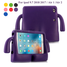 2018 Shock Proof Soft Handle Stand case for Apple ipad 9.7 inch 2018 Air 1 Air 2 /IPAD 9.7 2017 kids cartoon EVA silicone cover
