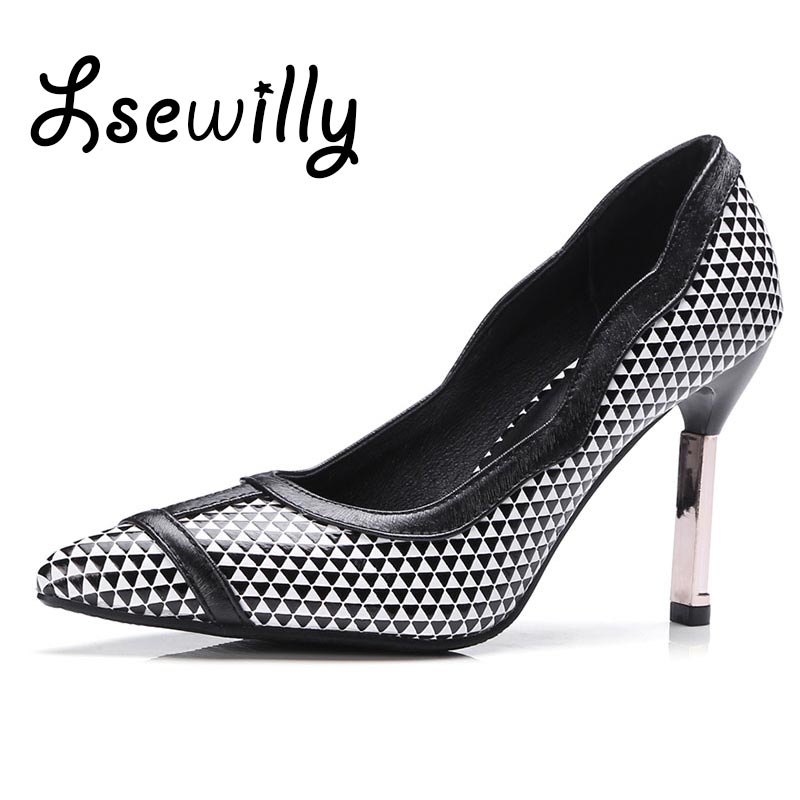 Lsewilly 2017 Vintage Sexy Pointed toe High Heels Women Heeled Shoes Fashion Women's Pumps Brand Ladies high Heels size 43 SS721 new 2017 spring summer women shoes pointed toe high quality brand fashion womens flats ladies plus size 41 sweet flock t179