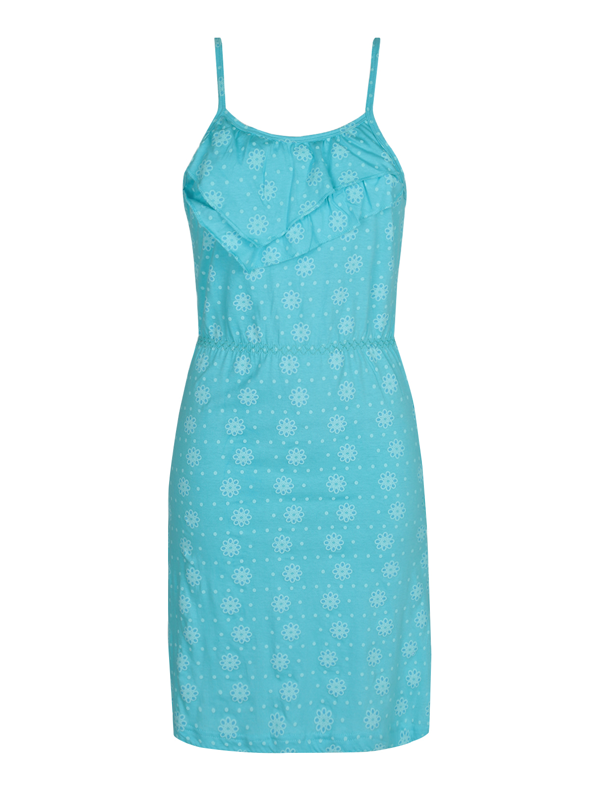 Nightgown With Flower Printing