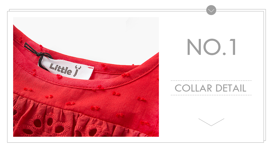 HTB1ezyASpXXXXazapXXq6xXFXXXY - Little J 100% Cotton Girls Red Off Shoulder Dress Toddler Hollow Lace Dresses Cute Casual Children Summer Dress Kids Clothes