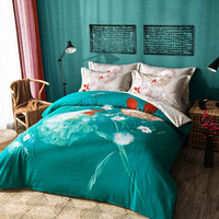 Colorful Flowers Bedding Set Queen King Size 100 Cotton Floral Printed Duvet Cover Bed Sheets 2017