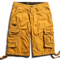 New Style Solid Color Mens Cargo Shorts Multi Colors Pure Cotton Shorts Men Summer