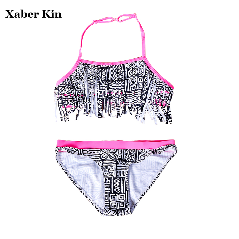 9-16Y Girls Large Size Swimsuits Two-Pieces Girls Bikini Suits Beach Wear Children Girls Bathing Suits Lovely Swimsuit G1-K370 cute kids girls swimwear two pieces child swimsuit ruffle children bikini baby girl beach wear with cap shop bb55