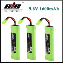 3x Eleoption 9.6V 1600mAh 8 Cell Stick Flat Ni-MH Battery Pack for Airsoft gun with Mini Tamiya connector plug