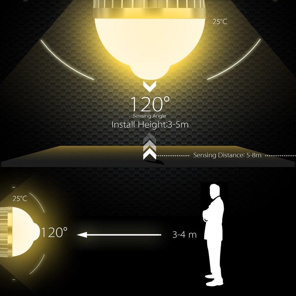 Высокая Яркость 9 Вт лампочки E27/E26 веранда лестницы зал туалете Пир Auto Motion Сенсор обнаружения 5730 LED свет лампы накаливания