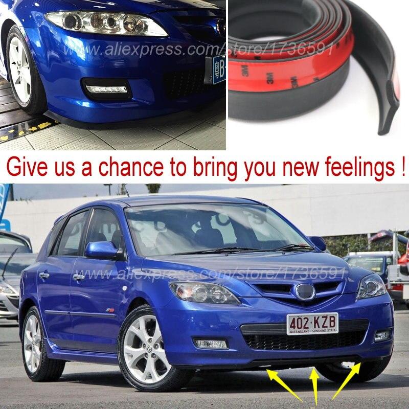 Bumper Lip Deflector Lips For <font><b>Mazda</b></font> <font><b>323</b></font> Familia Allegro Areis Protege Etude Front Spoiler Skirt Car Tuning View / Body Kit Strip