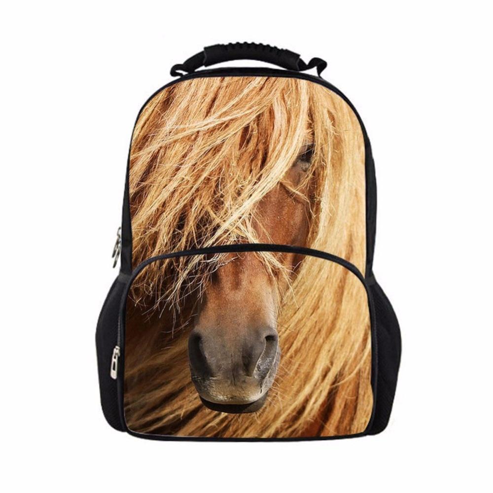 Noisydesigns 2018 новейшие счастлив ранцы довольно лошадь модные школьные сумки для детей рюкзаки для девочек-подростков книга Sac Mochila