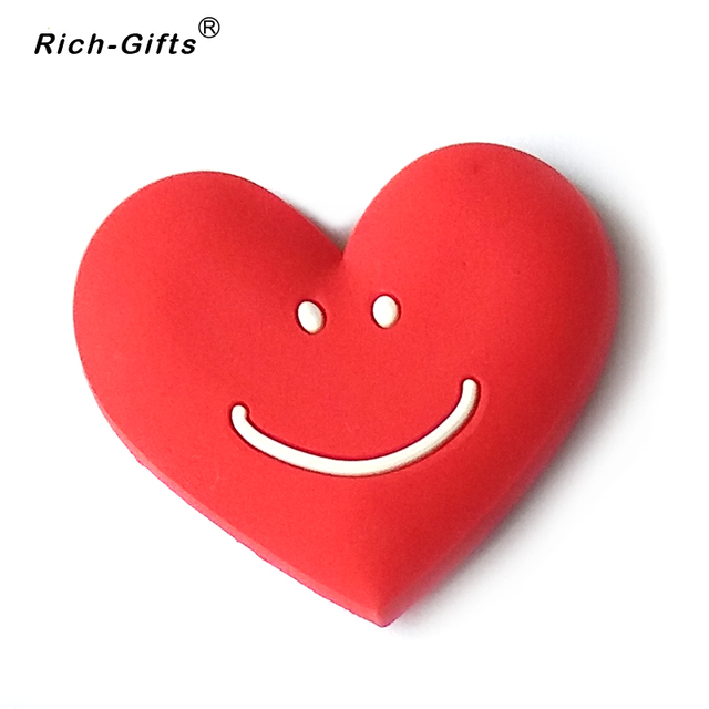 Customize promotional gifts for valentines day heart shaped logo fridge magnets refrigerator decoration stickers