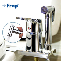 FRAP Bidets new chrome solid brass handheld bidet toilet portable bidet shower set with hot & cold water bidet tap