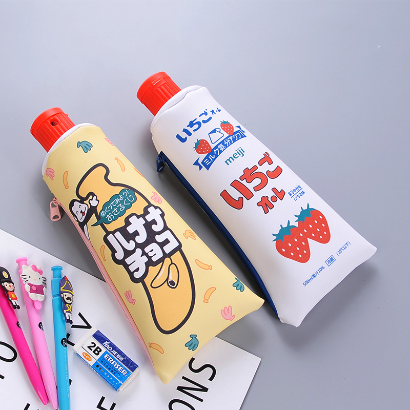 NNRTS Cute Cartoon Creative Bump Color Pencil Sharpener Toothpaste Modelling Pencil Bags Large Capacity Pen Case