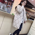 Winter Jacket Women Coats New Women's Clothing Rhombic Plaid Parkas For Women Casual Long Cotton Padded Jacke Abrigos C1536