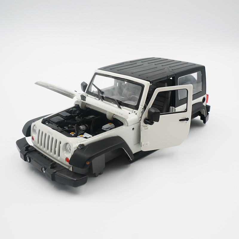 The new listing RC Rock Crawler 1/24 Jeep Wrangler Rubicon Diy Car Shell for AutoRC gk24 Metal alloy  Body maisto jeep wrangler rubicon fire engine 1 18 scale alloy model metal diecast car toys high quality collection kids toys gift