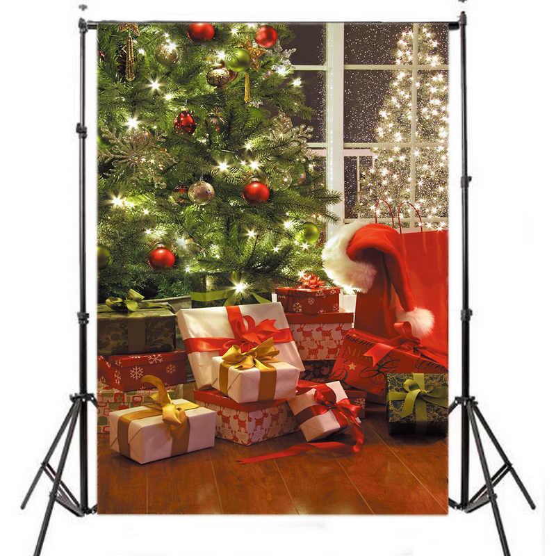 Mayitr 5X7FT Christmas Tree Vinyl Photography Backdrop XMAS Children Background For Photo Studio Props mayitr 5x7ft magic dark blue mysterious photography background vinyl high quality backdrop for studio photo props