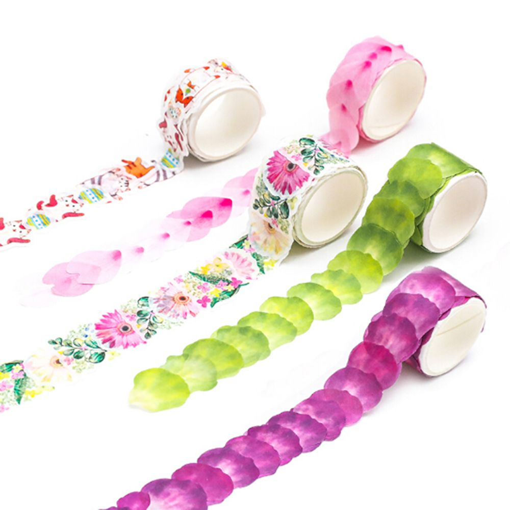 Creative Watercolor Sakura Petal Washi Tape Adhesive Masking Tape DIY Decoration Sticker For Scrapbooking Planner