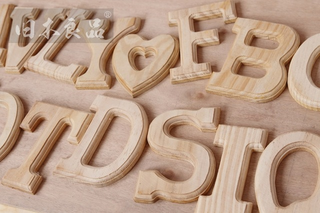 Wall Decorations For Engagement Party : Cm personalized wooden plaques letters wall door art