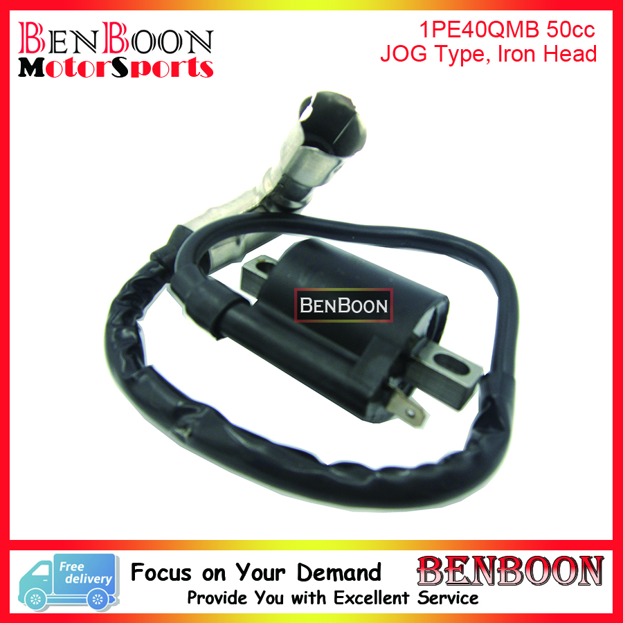 JOG50 JOG80 Ignition Coil (Iron Head Type) for 2T Minarelli 1PE40QMB  Engine Chinese Scooters