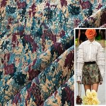 1Meter Metallic Jacquard Brocade Fabric Yarn Dyed Sewing For Womens Coat Dress Clothing Textile Material Diy 53 Width