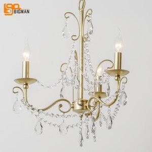 Image 4 - Lustres de cristal estilo europeu iluminação moderna para sala estar jantar ouro kristallen kroonluchter led luminárias