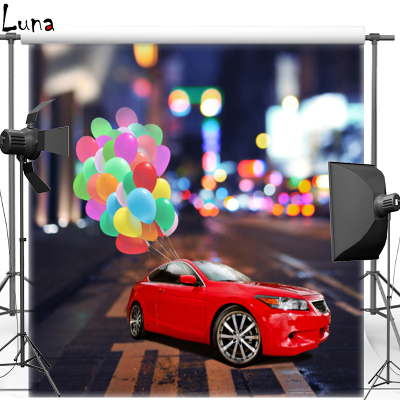 MEHOFOTO New Fabric Polyester Photography Background For Kids Colorful Balloon Vinyl Background For Children Photo Studio 467