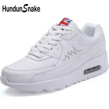 buscar oficial primera vista mejores ofertas en Hundunsnake Air Cushion zapatillas de deporte de cuero para mujer zapatos  deportivos blancos para mujer t14 >> hundunsnake Official Store