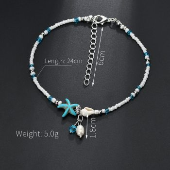Vintage Shell Beads Starfish Anklets For Women New Multi Layer Anklet Leg Bracelet Handmade Bohemian Jewelry Sandals Gift 3