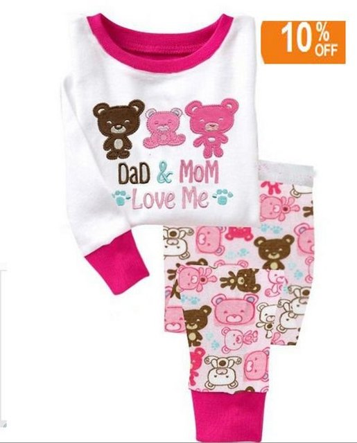 Baby Pyjamas DAD MOM Love Me designs  6sets/lot (1design x 6 sizes) hot Selling