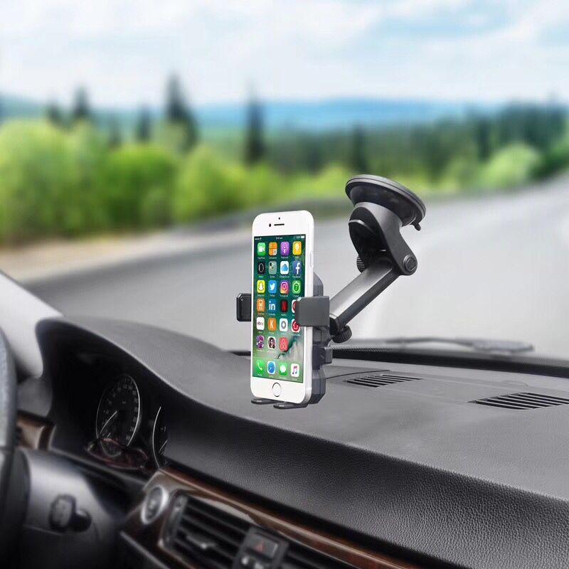Car Phone holder Universal For iPhone X 8 7 7 6 Plus Windshield Mount Phone Stand 360 Rotation Car Holder For Samsung S9 S8 S7