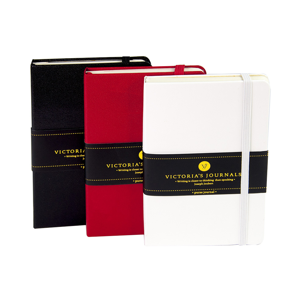 Victoria's Journals VenziHCover Hard Cover Notebook Lined Plain Journal