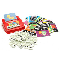 Children Learning English Word Puzzle Spelling Game Picture Flash Card Early Educational Toy For Baby Kids